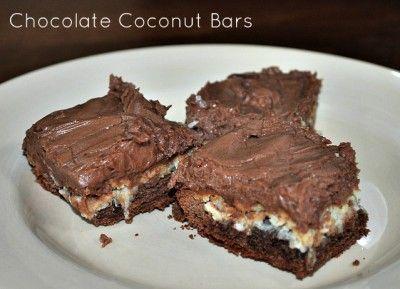 Yummy Chocolate Coconut Bars