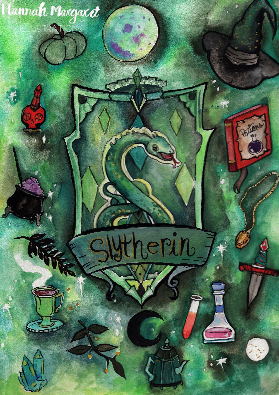 Slytherin Etsy In 2021 Harry Potter Artwork Harry Potter Drawings Harry Potter Wallpaper