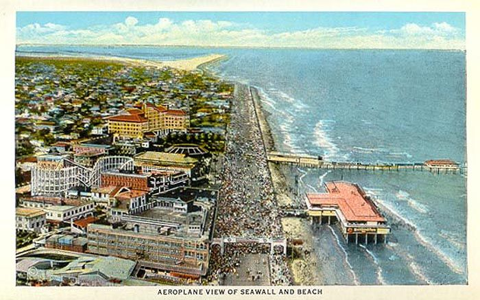 The seawall Galveston. This was once a playground for the wealthy. Nite clubs and Casino's lined the beach front. Everything money could buy was available.