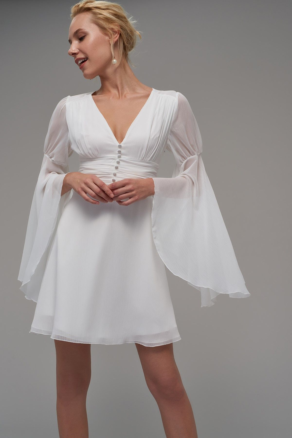 Ekru Beli Korsajli Elbise Trendyolmilla Trendyol Elbise The Dress Elbise Modelleri