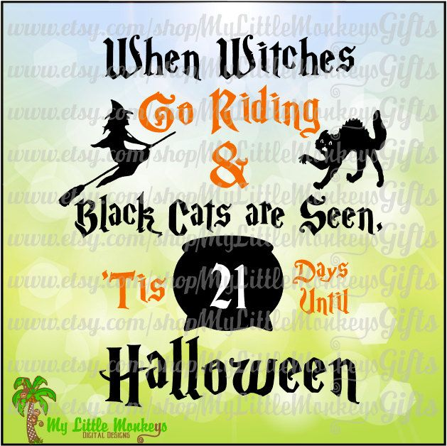 10+ When Witches Go Riding And Black Cats Are Seen – Svg File Image