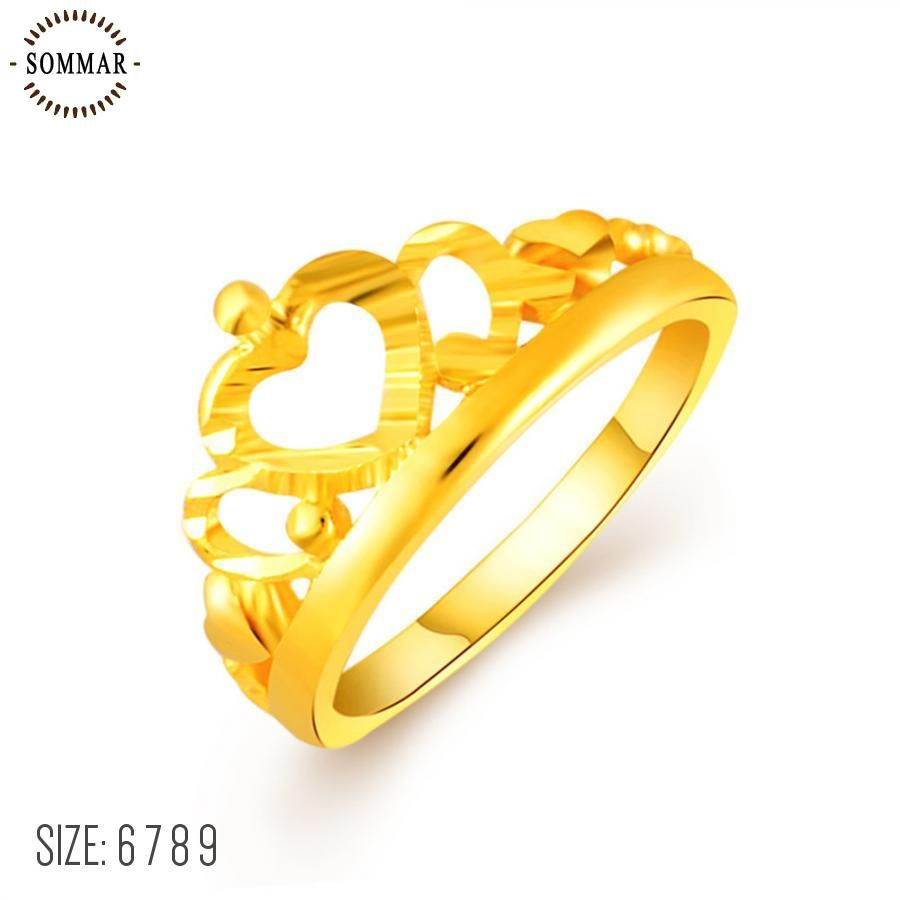 lovely k gp gold color engagement rings my princess queen