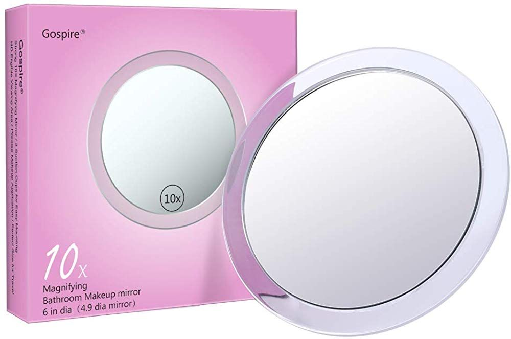 10x Magnifying Mirror 6 Inch With 3 Suction Cups Easy