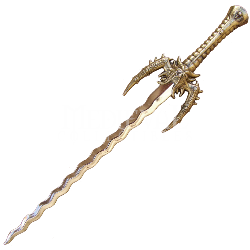 fantasy sword letter opener md3045 by medieval collectibles