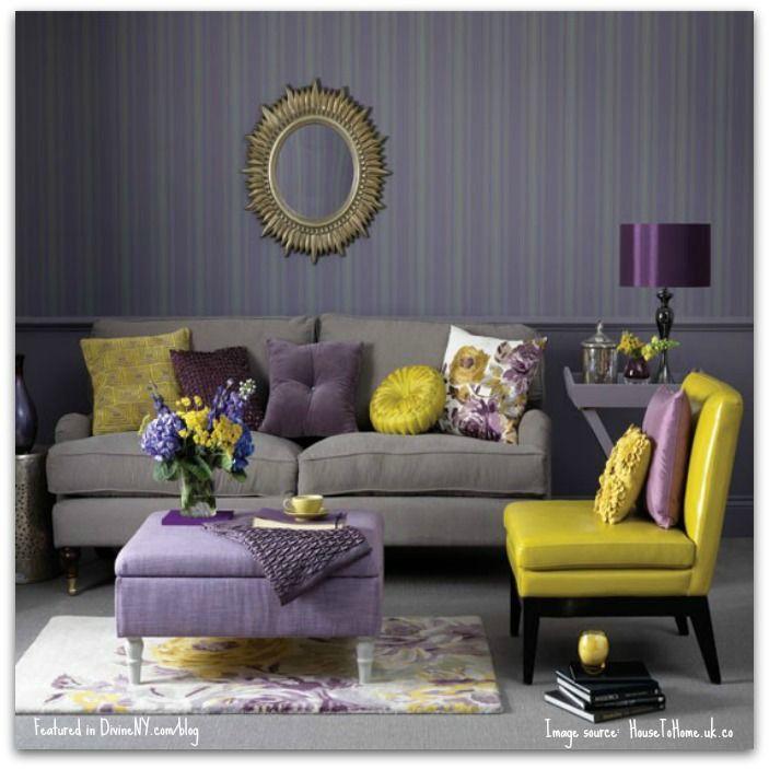 Color Crush Amethyst Purple Living Room Yellow Living Room Living Room Grey