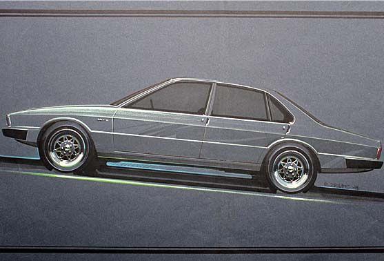 Jaguar XJ40 sketch from Roger Zrimec