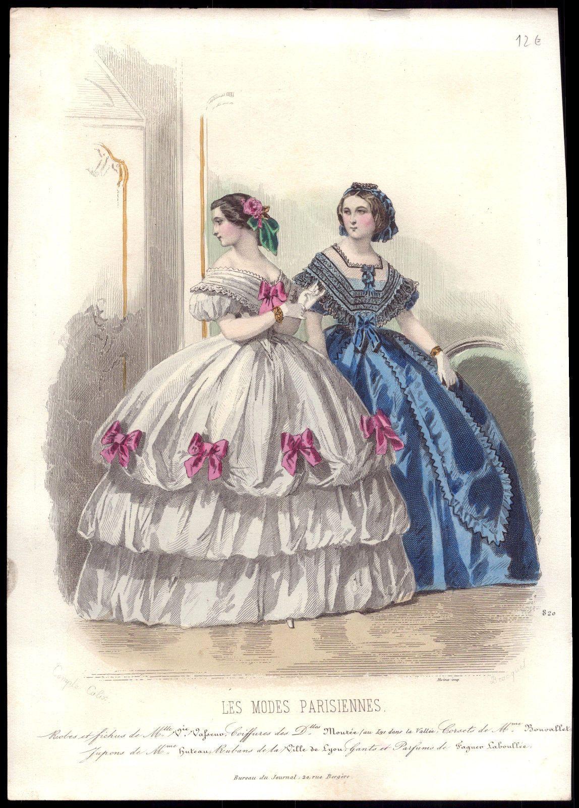 1860 dress fashion