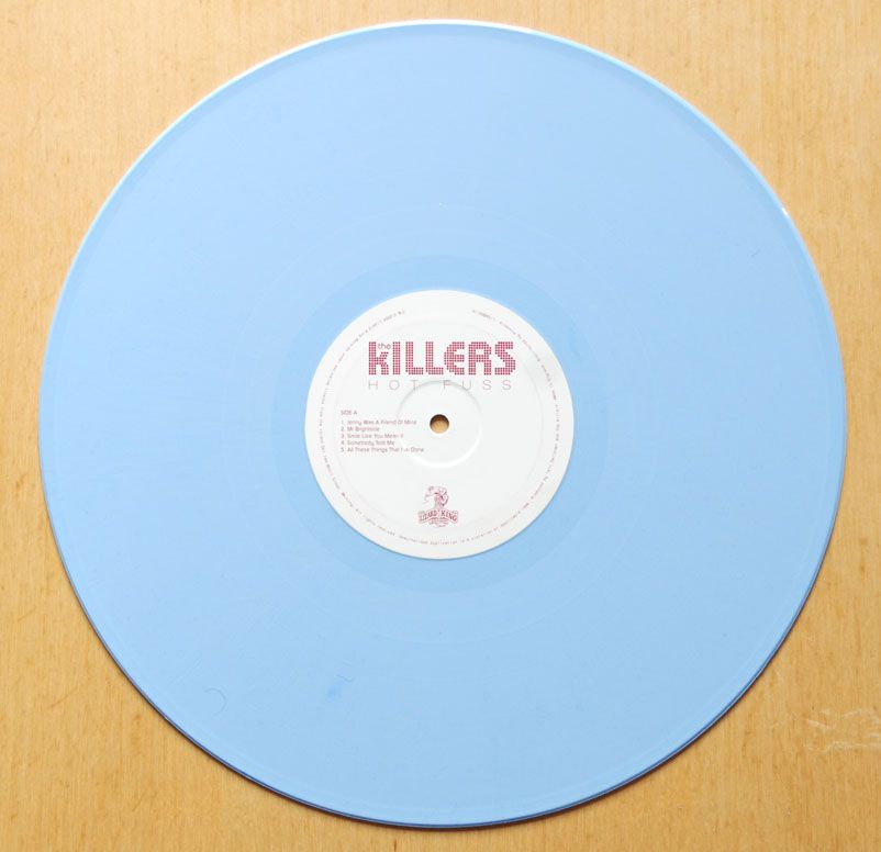 The Killers Hot Fuss Blue Vinyl Vinyl Music Vinyl Records Blue Vinyl