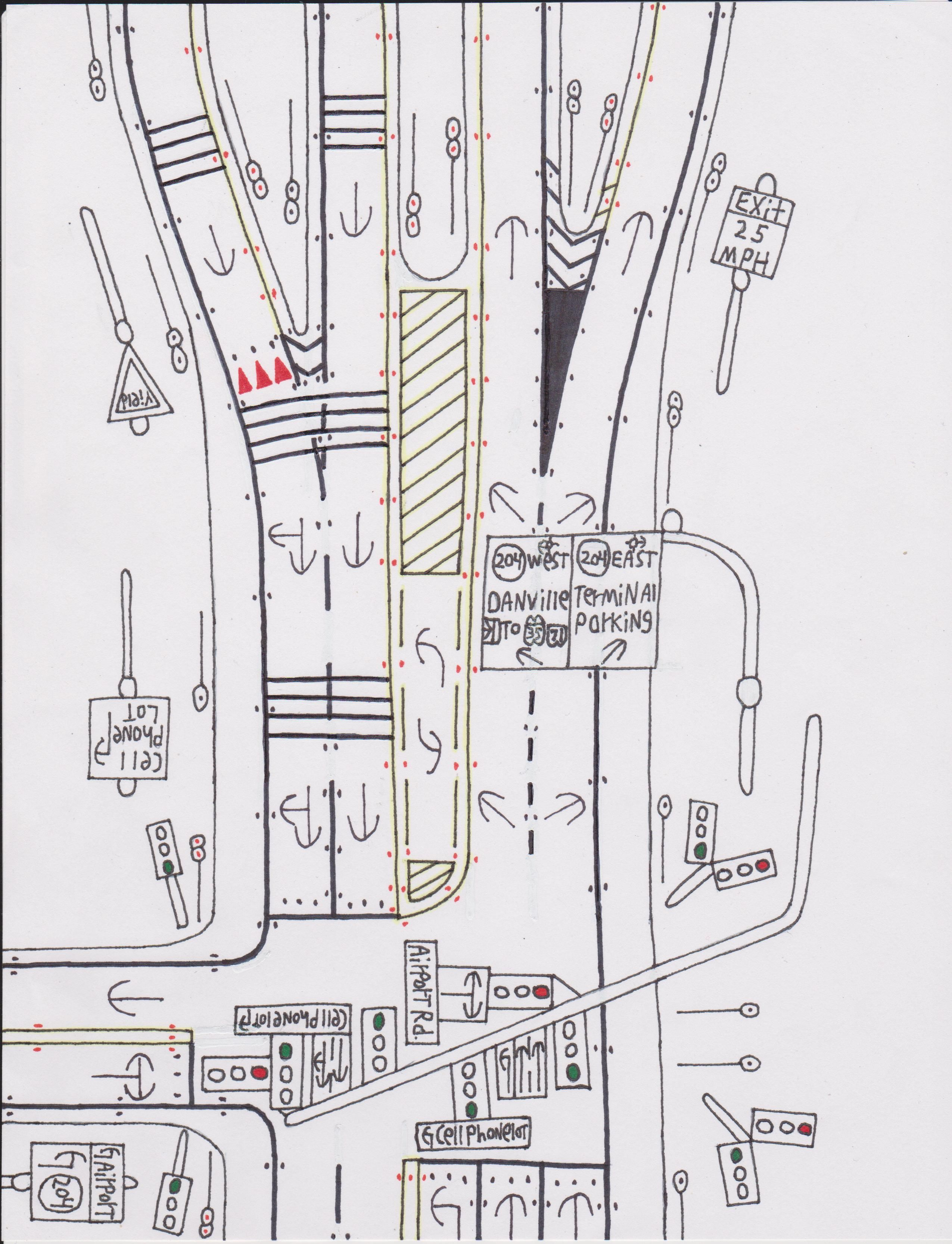 Traffic light on an avenue. | Road Drawings Stuff | Pinterest ...