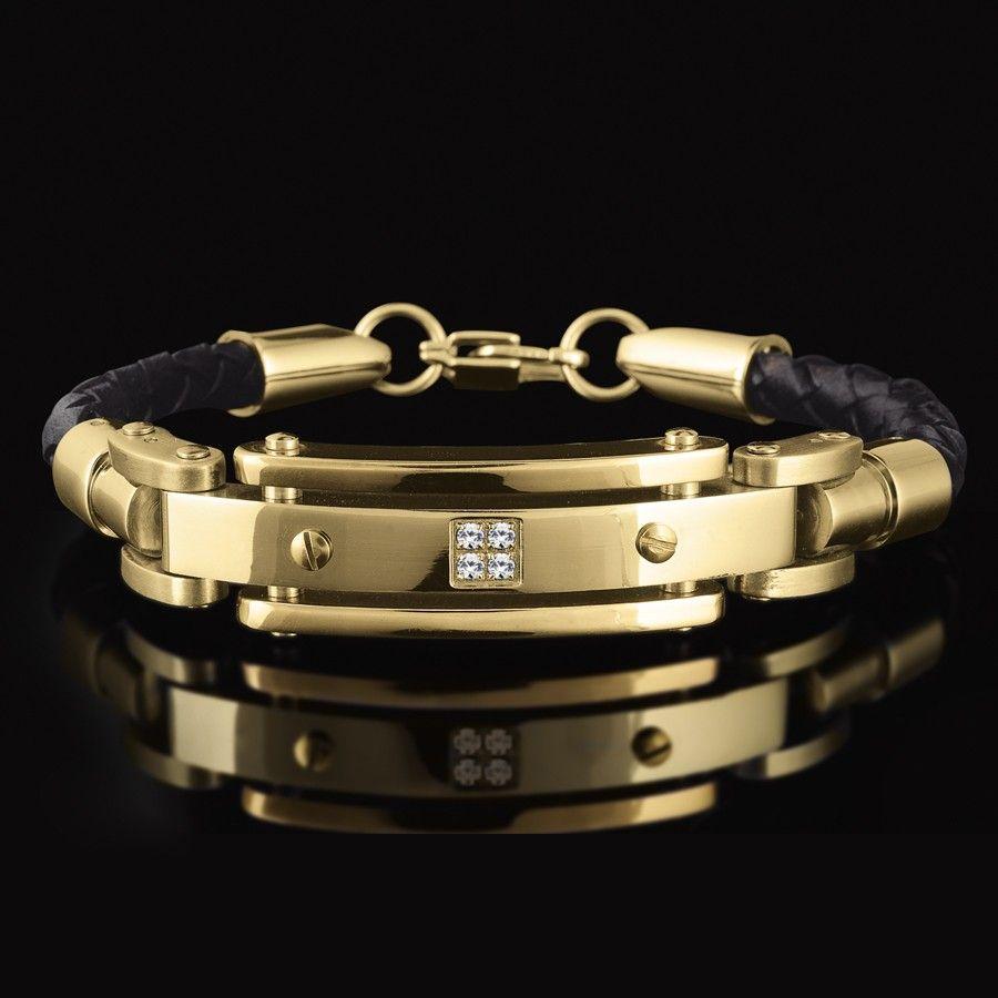 Gold bracelets for men click image to enlarge or roll over for