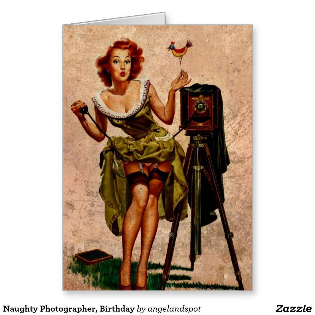 Naughty Photographer Birthday Greeting Card – Photographer Birthday Card