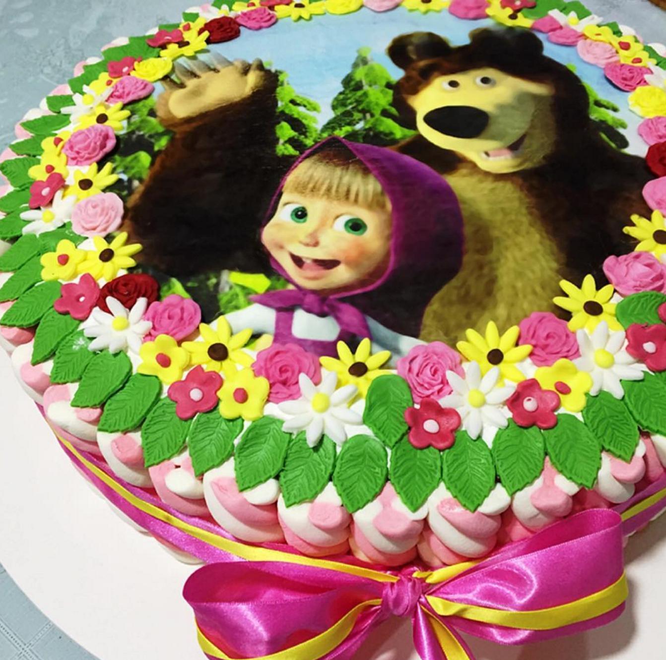 торт маша и медведь рецепт с фото бульваром