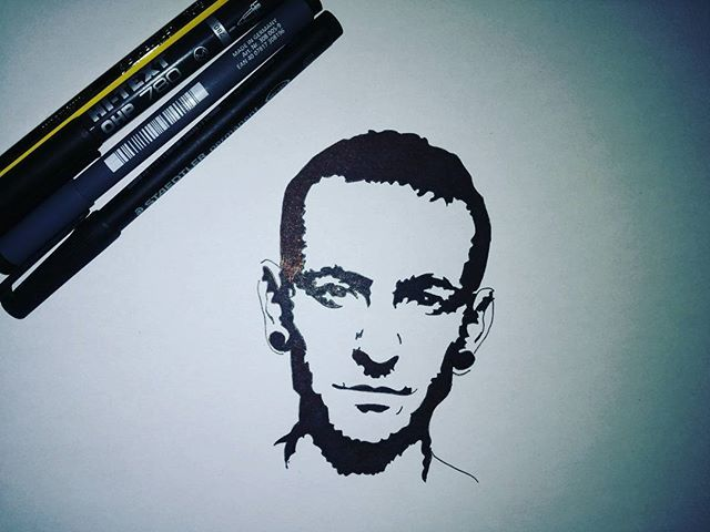 Chester bennington lp drawing chasterbennington for Tattoo shops in west chester