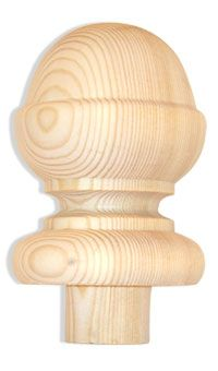 Best Specials For Woodturning Newel Post Caps Ball Acorn 640 x 480