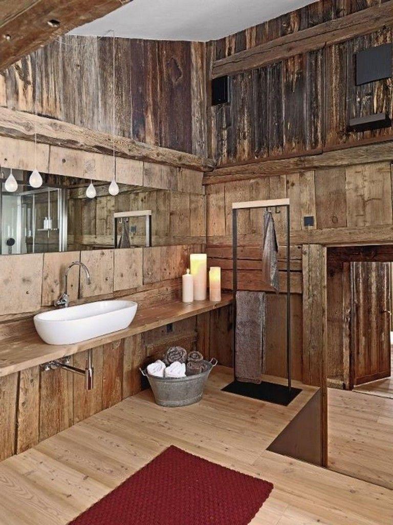 Best 27 Amazing Small Rustic Bathroom Decorating Ideas On A Budget Rustic Bathroom Designs Rustic Bathrooms Small Rustic Bathrooms