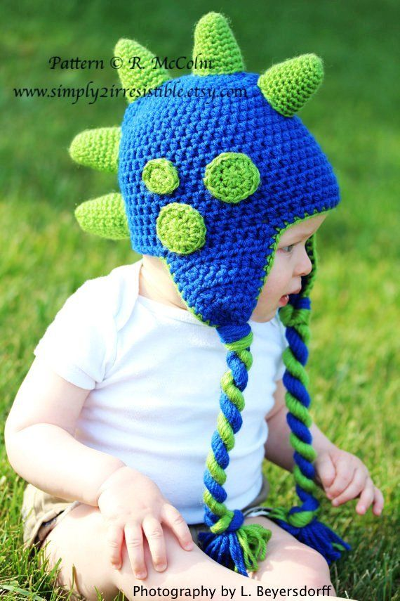 Dinosaur Hat Pattern Crochet Pattern Number 26 Beanie And