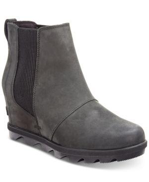ba33754b9 Sorel Women's Joan of Arctic Wedge Ii Waterproof Chelsea Booties - Black  7.5M