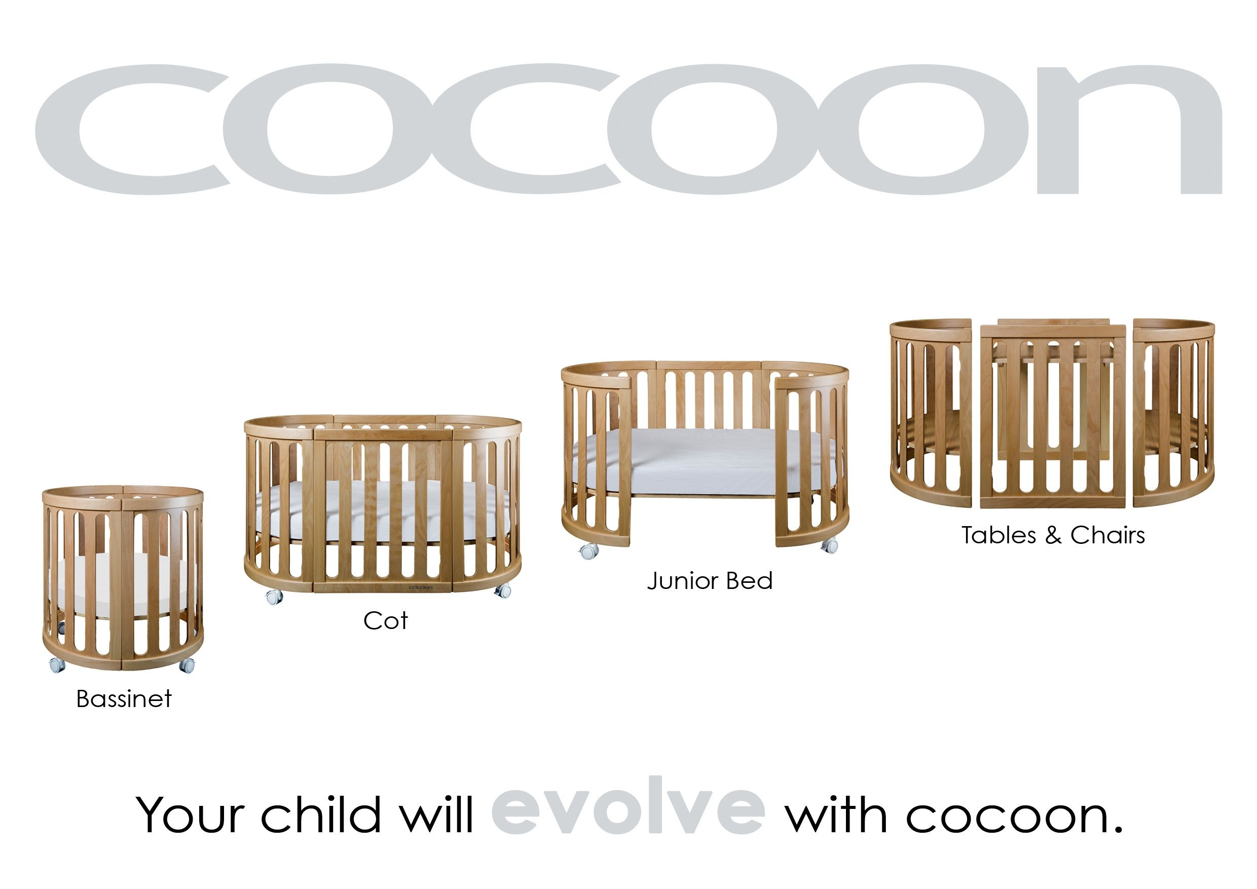 Baby cribs york region - Cocoon Nest Cot Junior Bedbaby