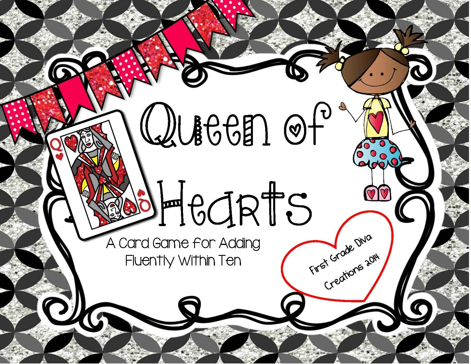 FREE Queen of Hearts {A Printable Card Game for Valentine
