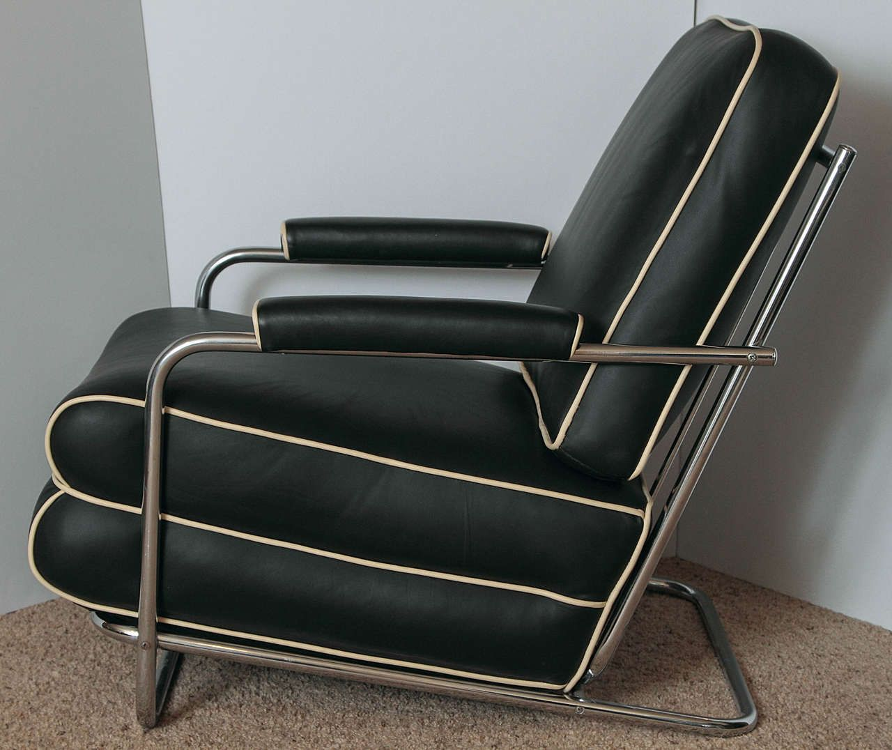 Gilbert Rohde Streamline Art Deco Lounge Chair For Troy Sunshade