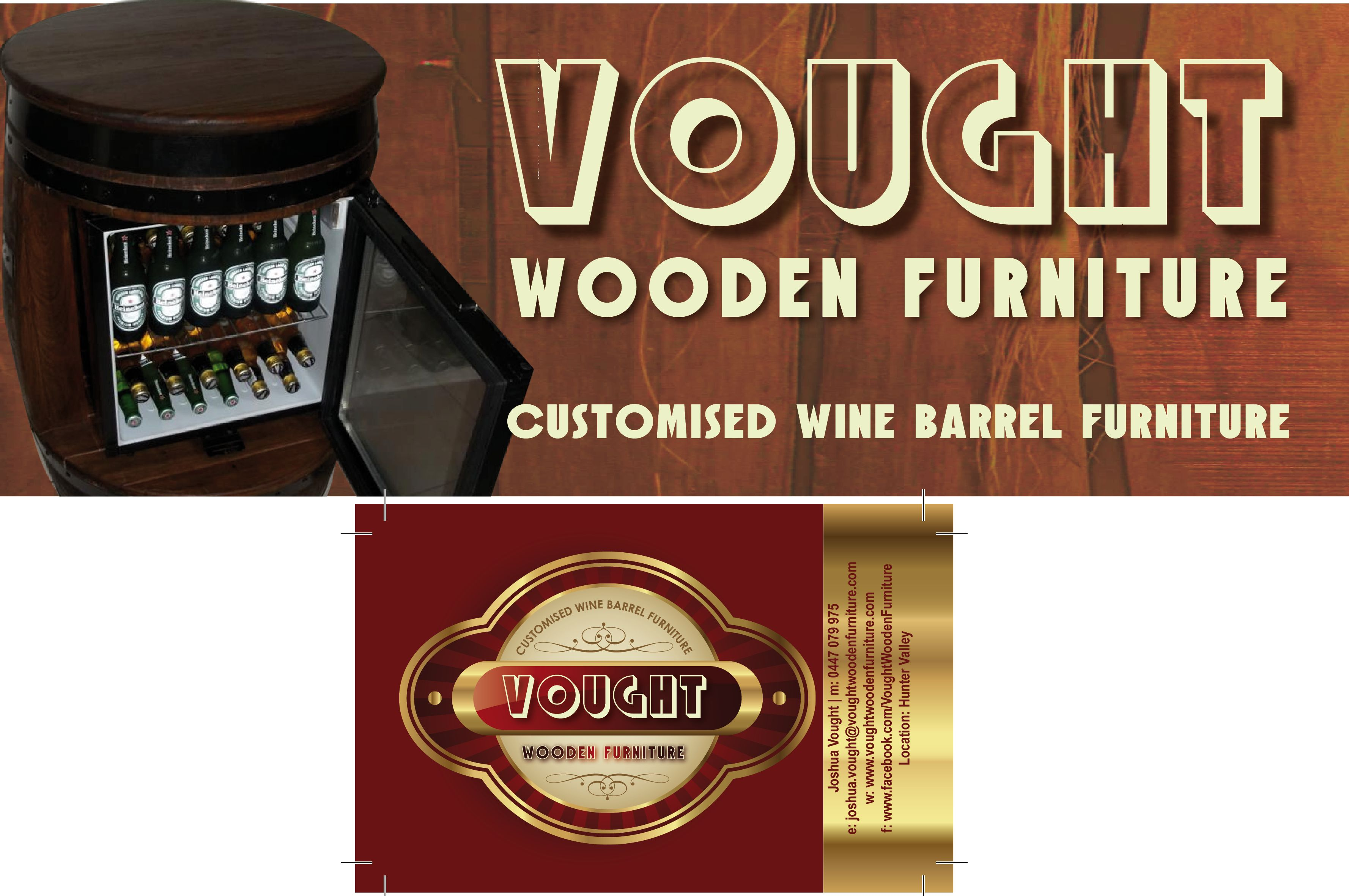 Logo and Business Designs for Vought Wooden Furniture