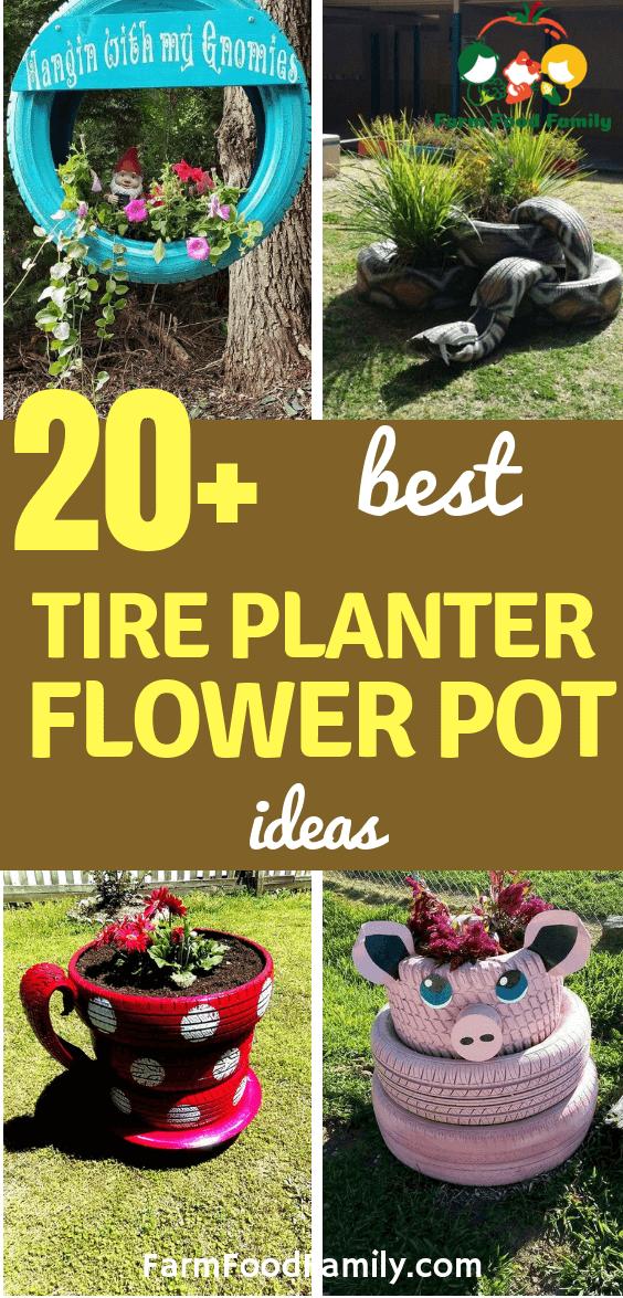 20 Best Diy Tire Planter Flower Pot Ideas Projects For 2020