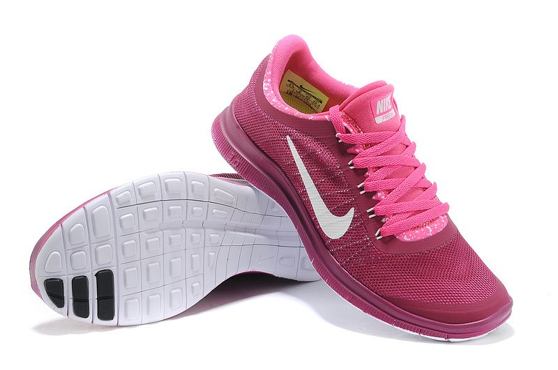 Wmns Nike Free 3.0 V6 Running shoes with Soft Sole for Women in Peach White