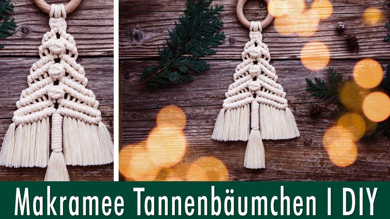 Makramee Tannenbaum I DIY I Kleiner Wandbehang für Weihnachten