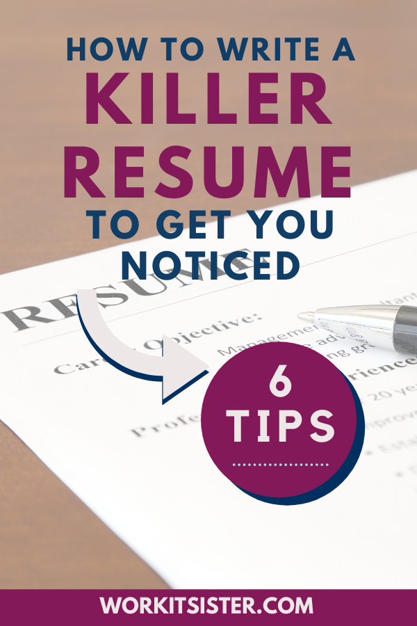 How to Write a Killer Resume - Career advice dream job, Job search motivation, Job search websites, Career advice, Job inspiration, Job interview tips - Learn how to write a resume that gets noticed by employers, recruiters and hiring managers! Invest in your success to land your interview  resume
