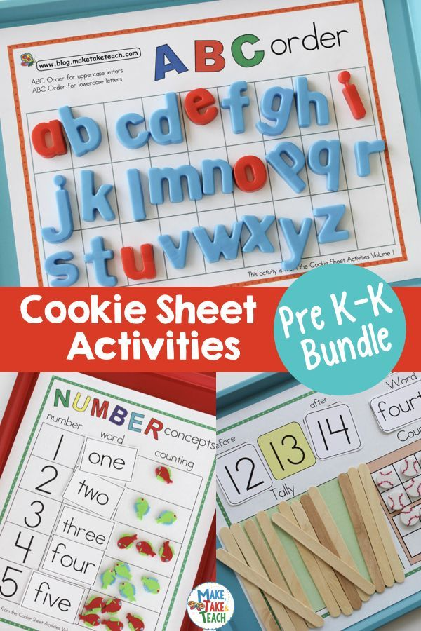 Cookie Sheet Activities for Early Literacy and Numeracy | Early ...