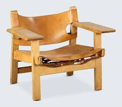 borge mogensen chair in leather and wood