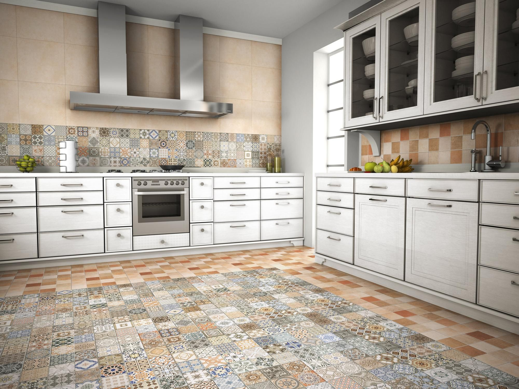 - Provenzia Decorative Mix Pattern Porcelain Tile Small Condo