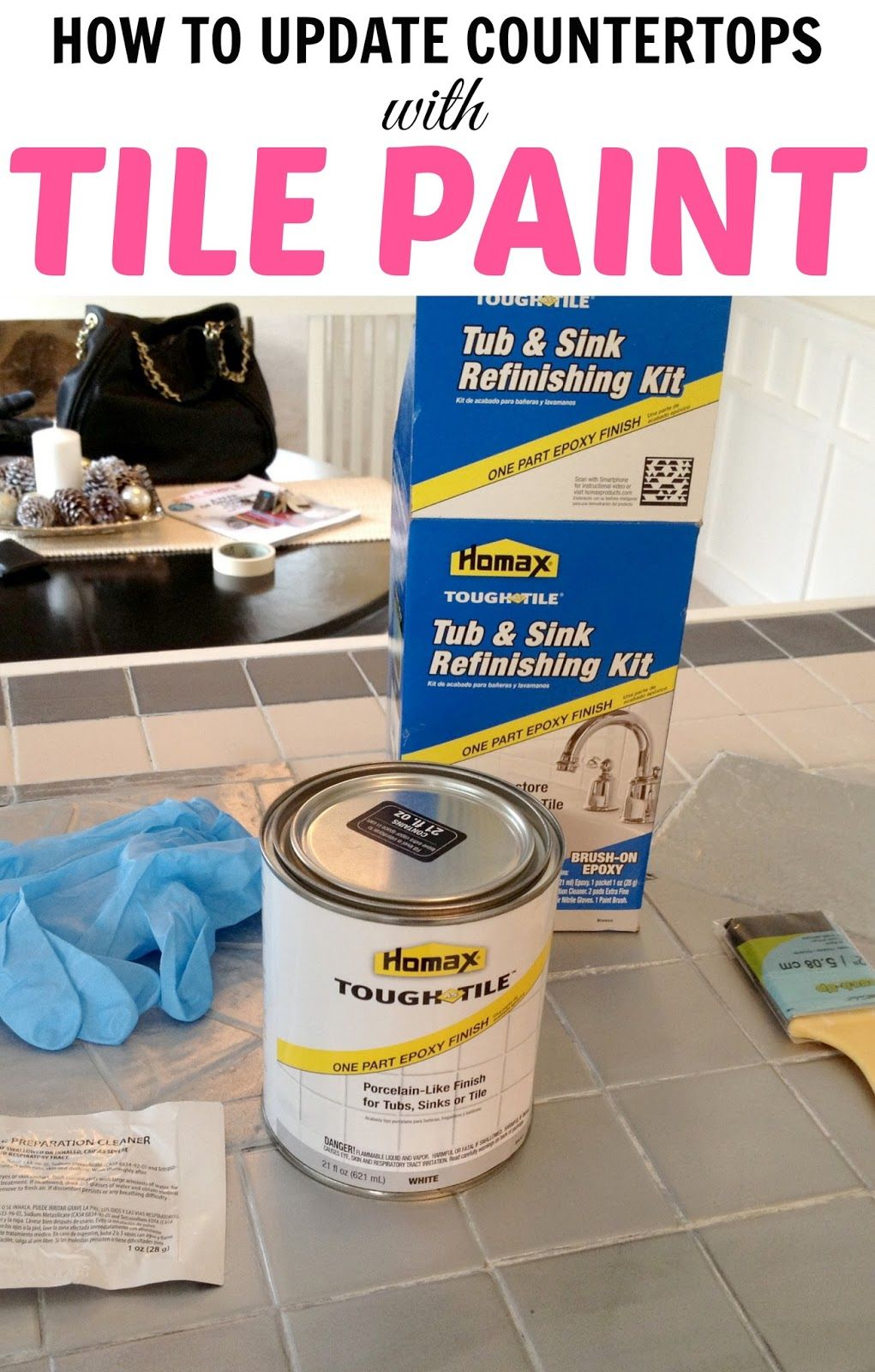 How to paint tile countertops product called homax tough tile how to paint tile countertops product called homax tough tile tub sink refinishing kit dailygadgetfo Image collections