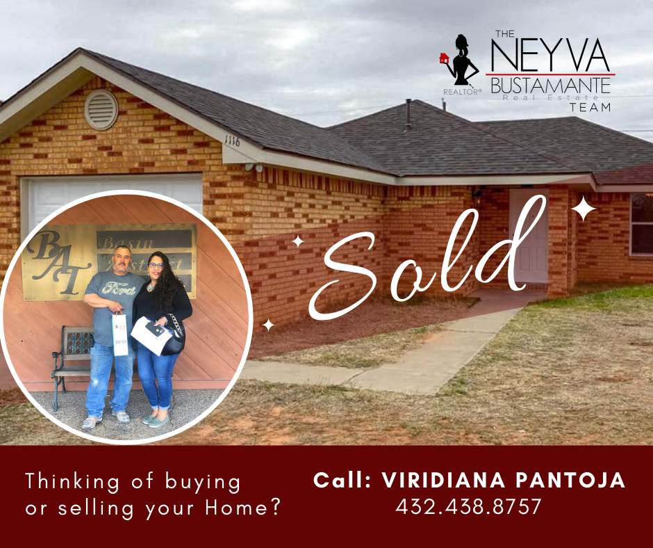 Happy Monday everyone!! Congratulations to the New Owner and to the Seller on this gorgeous home! Thank you for choosing The Neyva Bustamante Real Estate Team!  Reach out to Viridiana Pantoja for any real estate needs you might have! ☎️432.438.8757 . . . #SOLD #Newhomeowners #HappyClients #Homebuyingguide #ListingAgent #BuyerAgent #TheNeyvaBustamanteRealEstateTeam