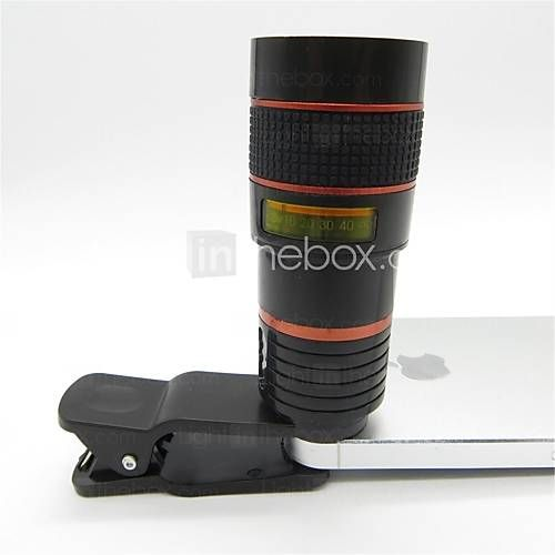 USD $ 19.99 - Universal 8X Telephoto Lens with Clip for Cellphones, Free Shipping On All Gadgets!