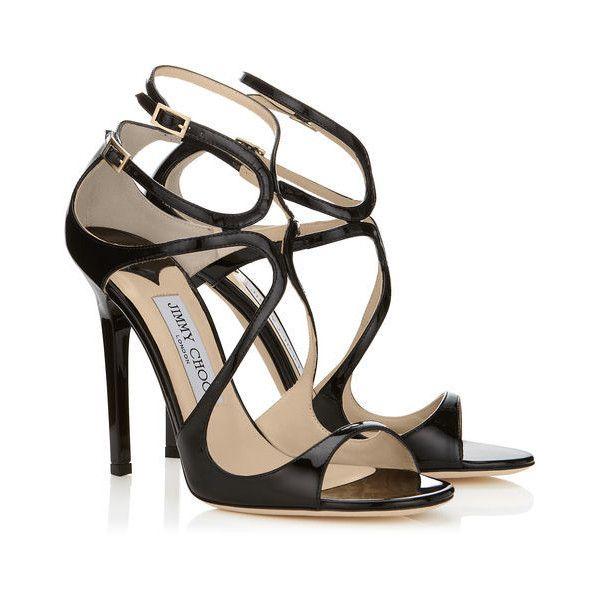 Womens Fashion Black textured patent block heel sandals Sale No 1520