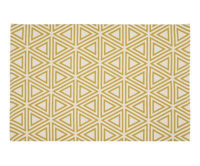 Tappeto artigianale Freja giallo/ecru, 120x180 cm