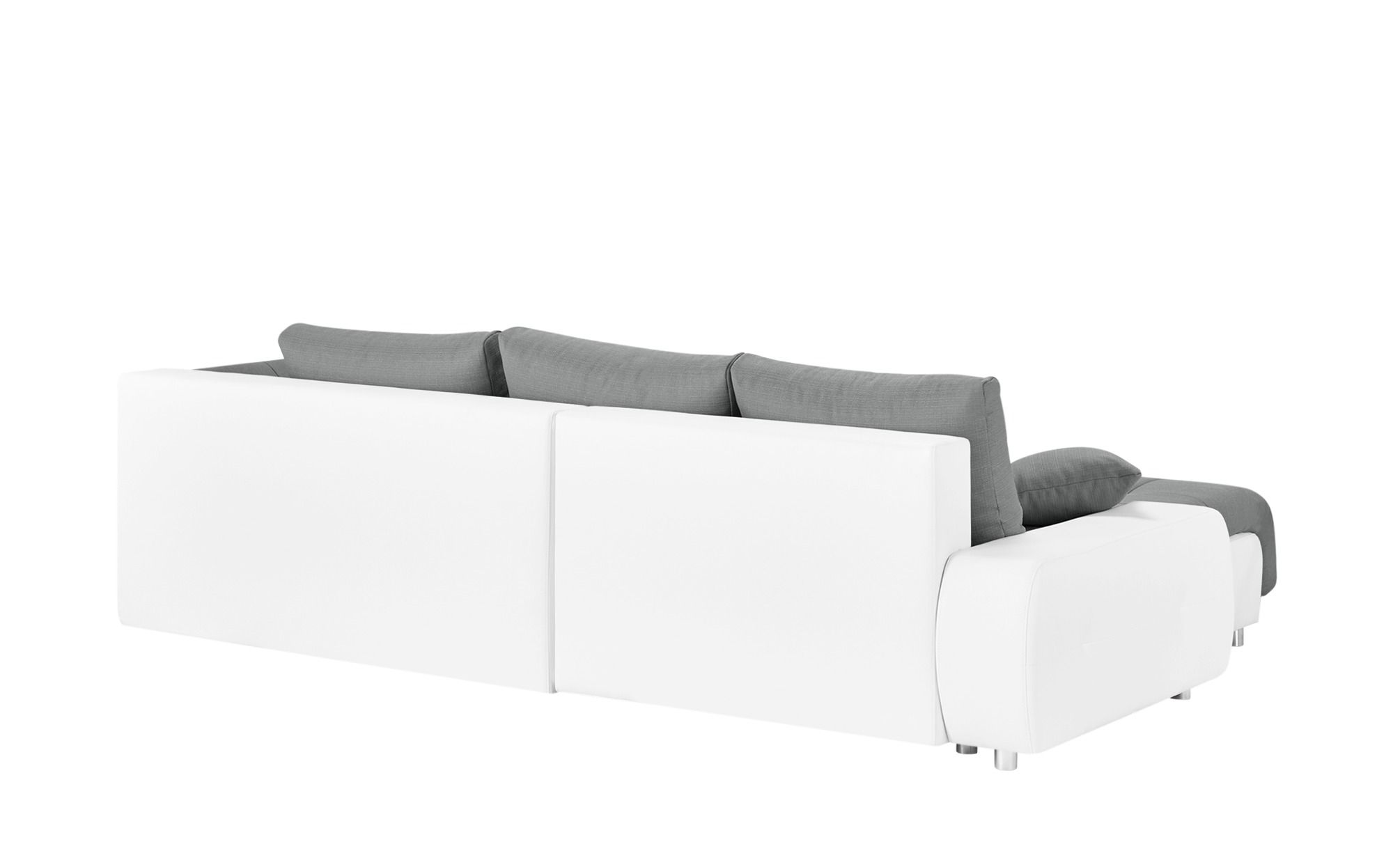 Switch Ecksofa Grau Weiss Kunstleder Flachgewebe Cumulus Sofa Ecksofa Und Couch Mit Schlaffunktion