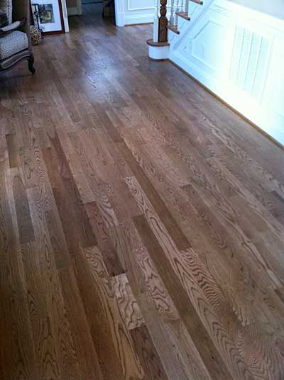White Oak With Duraseal Cherry Stain Main Floor Colors