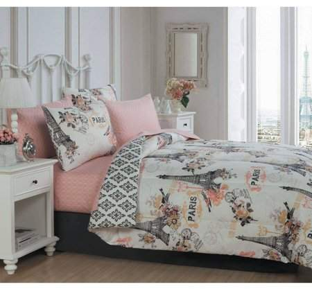 Avondale Manor Cherie 6pc Bed In A Bag Set Walmart Com Bed In A Bag Comforter Sets Paris Themed Bedroom