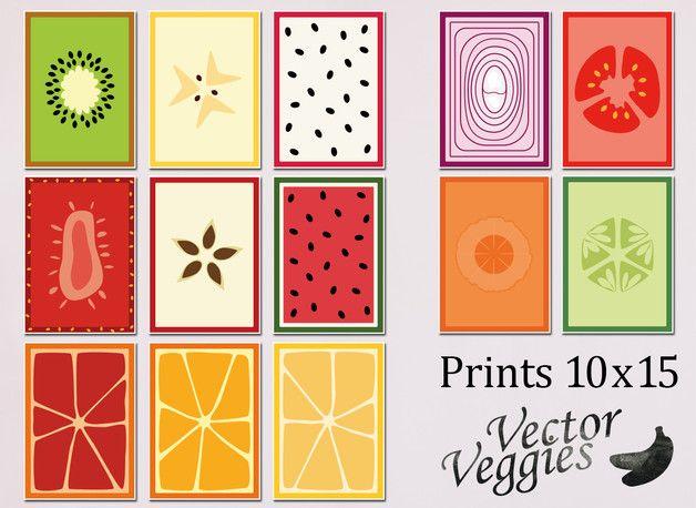 Prints 10 x 15 cm. Vector Veggies - 5,50 €