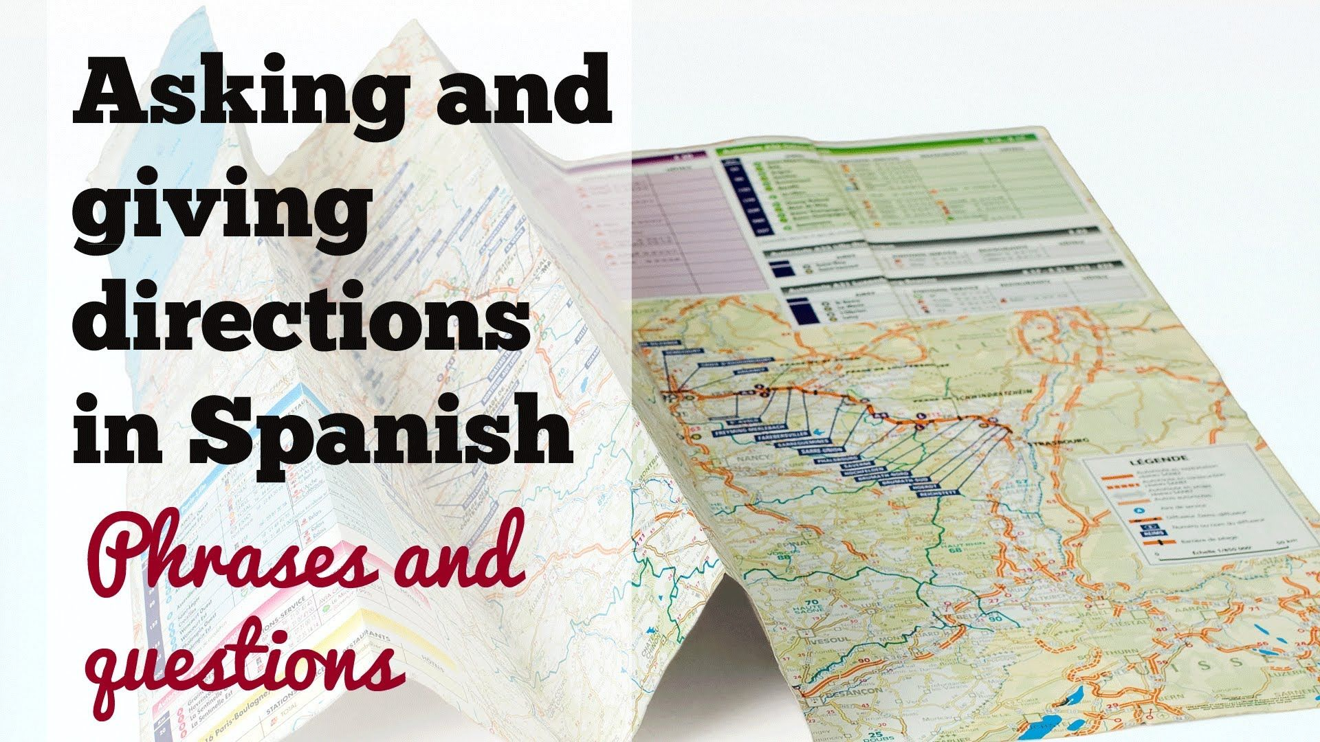 Asking And Giving Directions In Spanish
