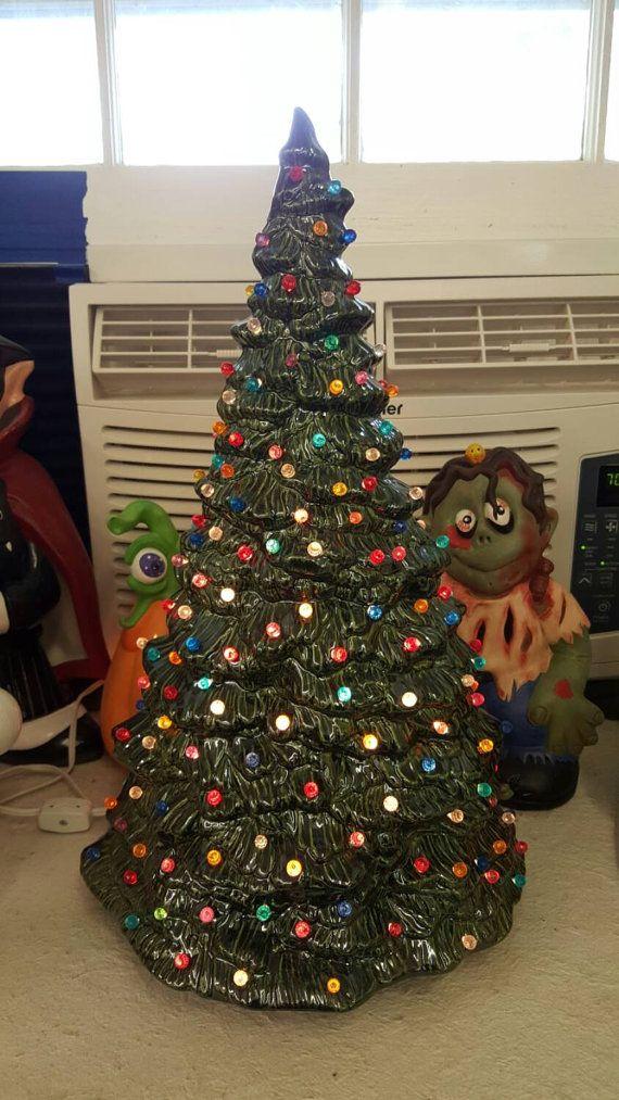 Ceramic Christmas Tree Approximately 17 5 Quot Beautiful Doc Holliday Tree Multi Colo Ceramic Christmas Trees Vintage Ceramic Christmas Tree Christmas Tree