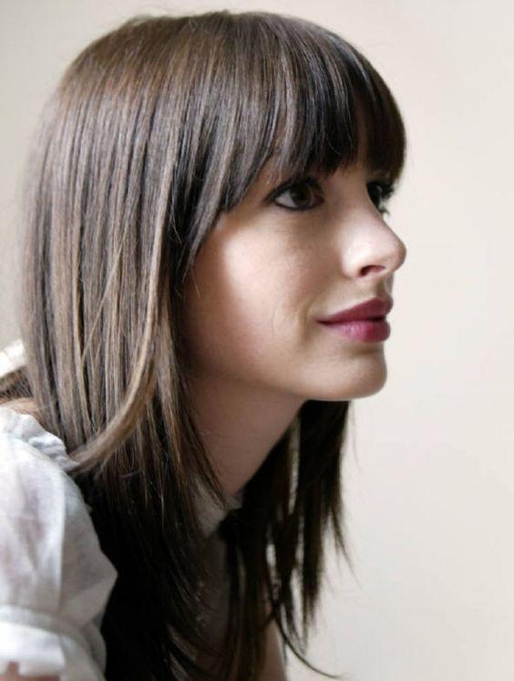 formas de llevar cabello lacio fleco | Hair | Pinterest | Haircut ...