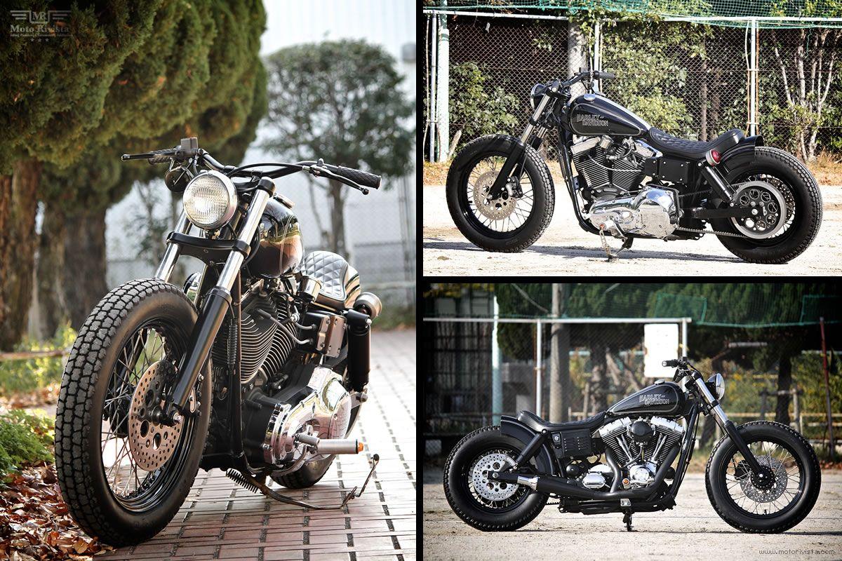 Custom harley davidson fxdl by motor garage goods moto rivista