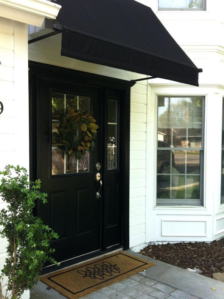 Front Doors: Canvas Awning Over Front Door Glass Awning ...
