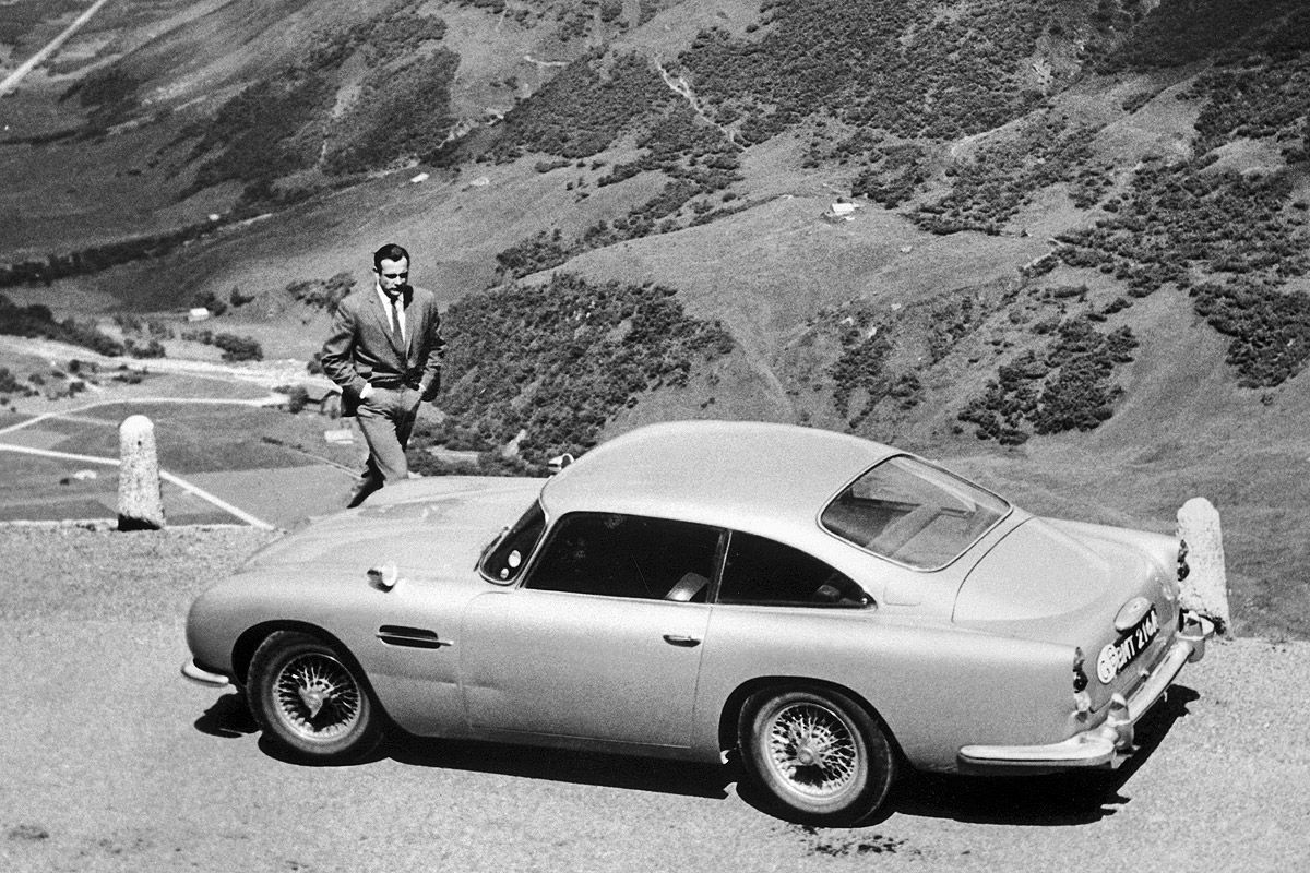 sean connery and aston martin db5 #astonmartin #connery | aston