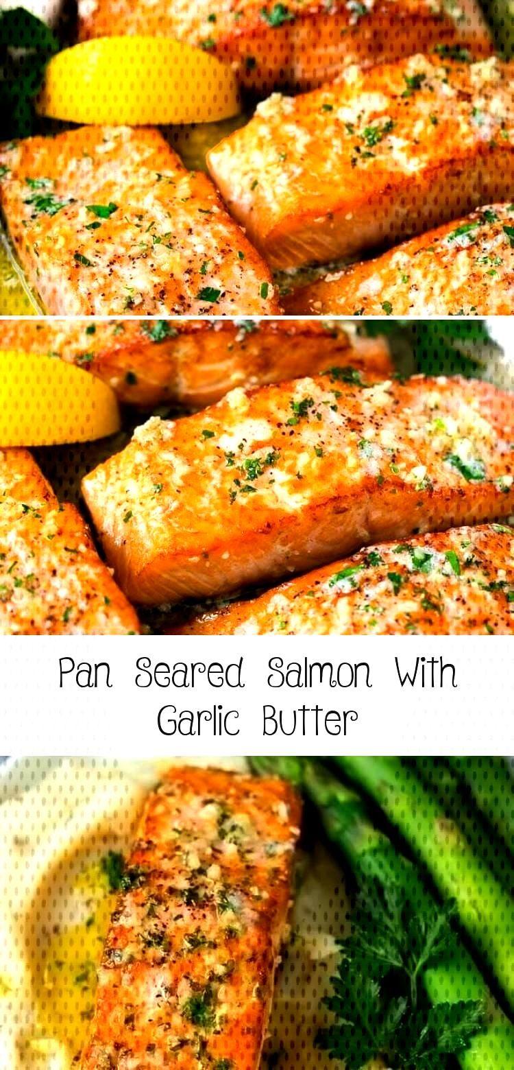 Pan Seared Salmon With Garlic Butter Pan Seared Salmon Recipe | Garlic Butter Salmon | Seared Salmo