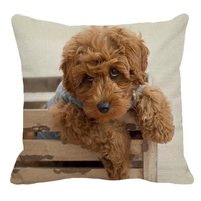 Cute Cavoodle Dogs Linen Cushion Cover Cavoodle dog
