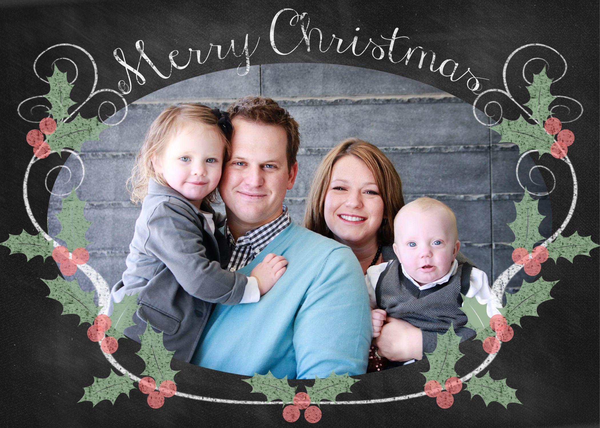 free christmas card photo templates